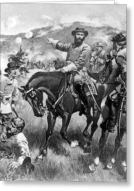 Confederate Flag Greeting Cards - Longstreet At Gettysburg Greeting Card by Henry Alexander Ogden