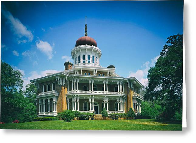 Covered Porch Greeting Cards - Longwood House - Natchez Greeting Card by Mountain Dreams