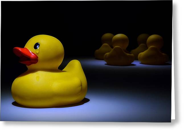 Rubber Ducky Greeting Cards - Lonliness Greeting Card by Mark Fuller