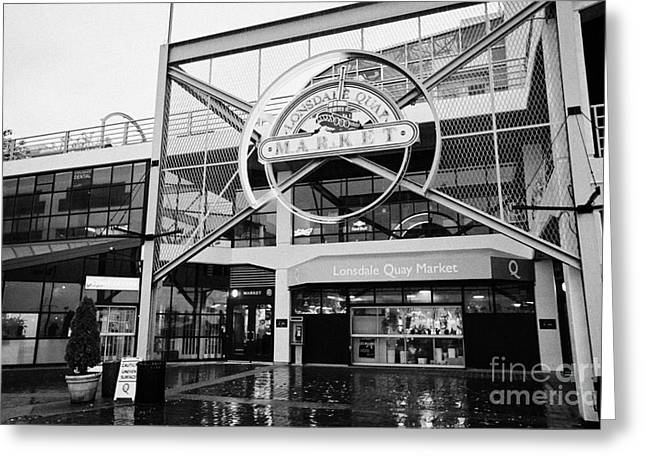 North Vancouver Greeting Cards - lonsdale quay market shopping mall north Vancouver BC Canada Greeting Card by Joe Fox