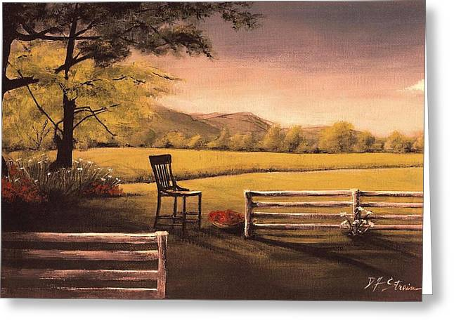 Lonsesome Chair Greeting Card by Diane Strain