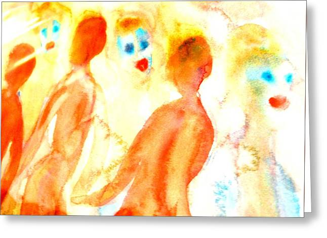 Look In The Mirror And See What You Can Find  Greeting Card by Hilde Widerberg
