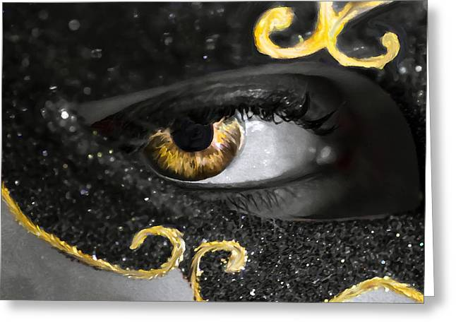 Glamour Optics Greeting Cards - Look into my Eyes... Greeting Card by Sotiris Filippou