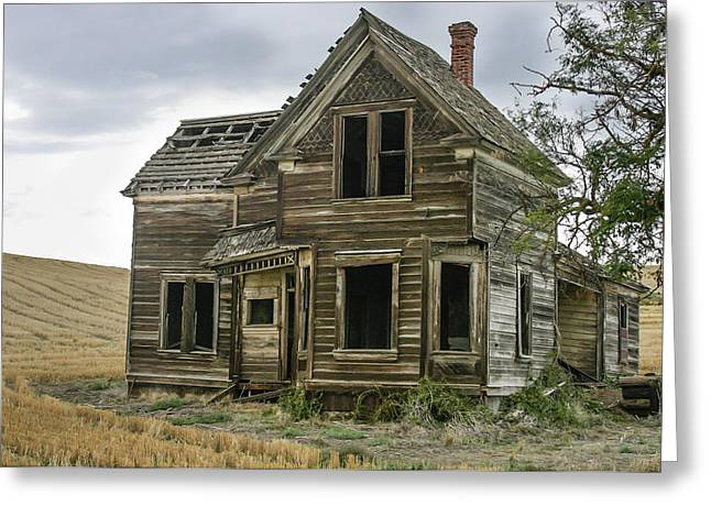 Old Home Place Greeting Cards - Look Ma No People Greeting Card by Jean Noren