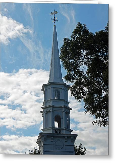 Martha Mary Chapel Greeting Cards - Look Skyward Greeting Card by Suzanne Gaff