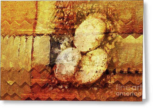 Eggs Mixed Media Greeting Cards - Look what I found Greeting Card by Lutz Baar