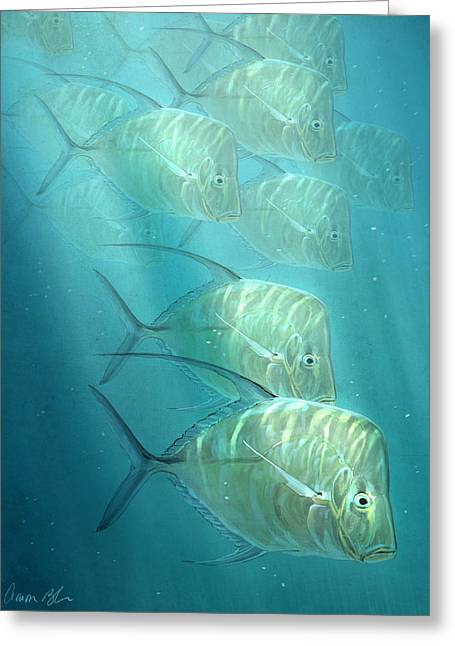 Sea Life Greeting Cards - Lookdowns Greeting Card by Aaron Blaise