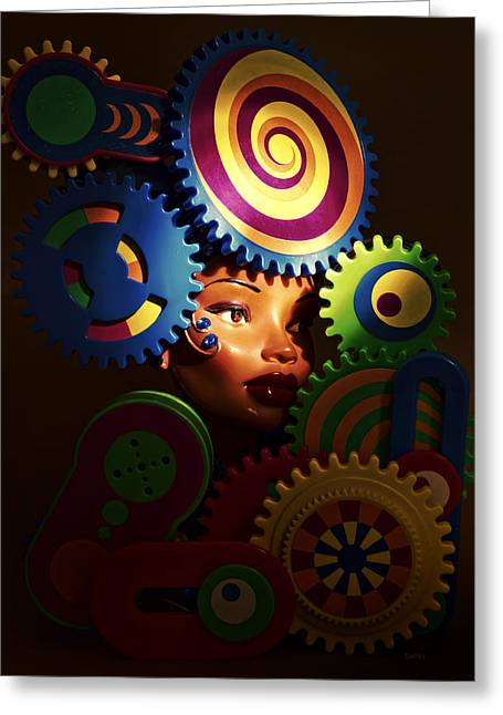 Looker Greeting Card by Jeff  Gettis