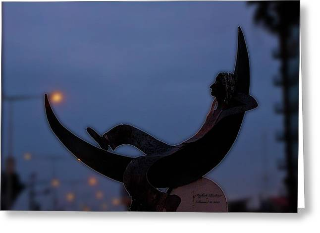 Look..i Got The Moon For You  Greeting Card by Itzhak Richter