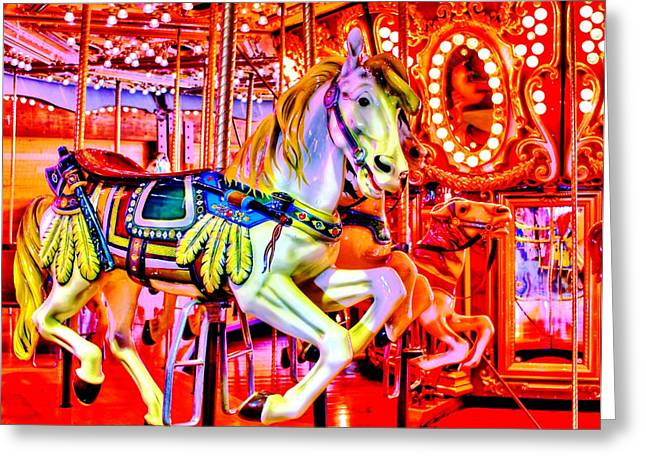 Carousel Greeting Cards - Looking Ahead Greeting Card by Benjamin Yeager