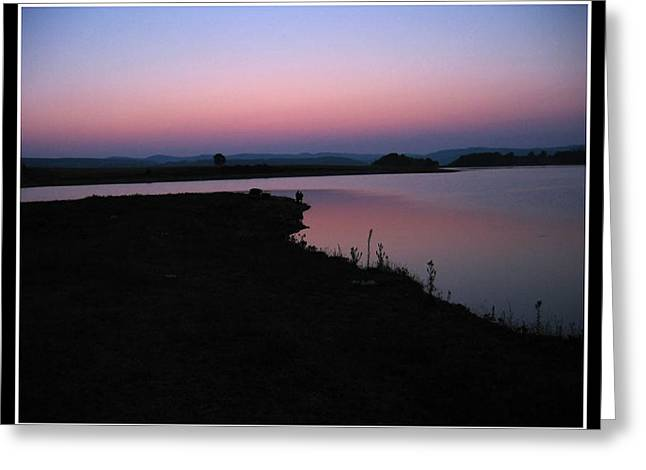 The Followers Photographs Greeting Cards - Looking at Setting sun Greeting Card by Henry Adams