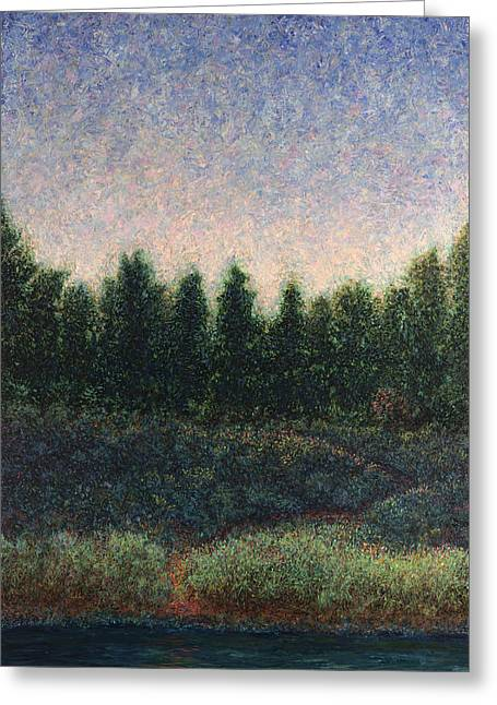 Nightscapes Greeting Cards - Looking Back Greeting Card by James W Johnson