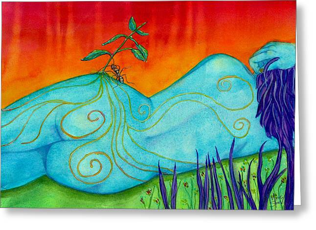 Pondering Paintings Greeting Cards - Looking Back Greeting Card by Marie Stone Van Vuuren