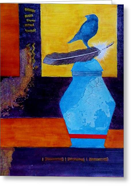 American Pastime Mixed Media Greeting Cards - Looking back - Remembering Greeting Card by David Raderstorf