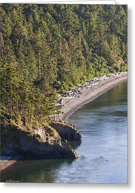Deception Beach Greeting Cards - Looking Down Greeting Card by Jeff Swanson