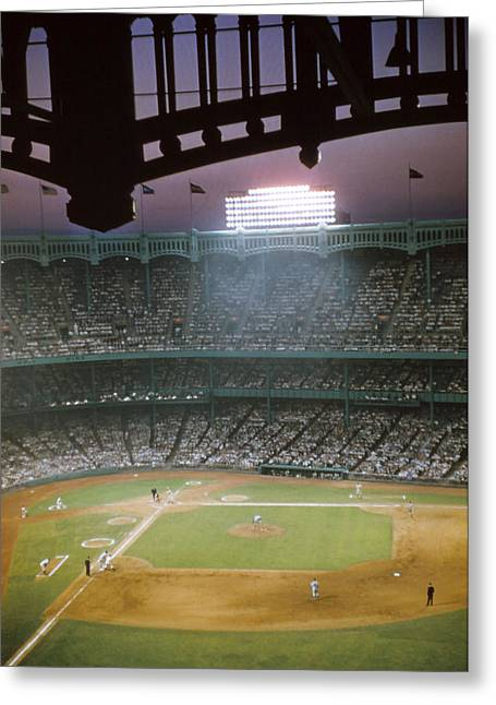 Sports Photography Greeting Cards - Brillant Yankee Stadium Greeting Card by Retro Images Archive