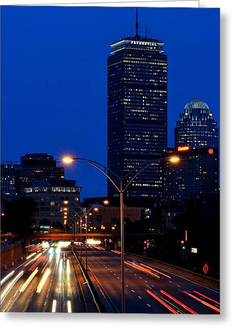 Boston Ma Greeting Cards - Looking down the Mass Pike from the Brookline ave bridge Greeting Card by Toby McGuire