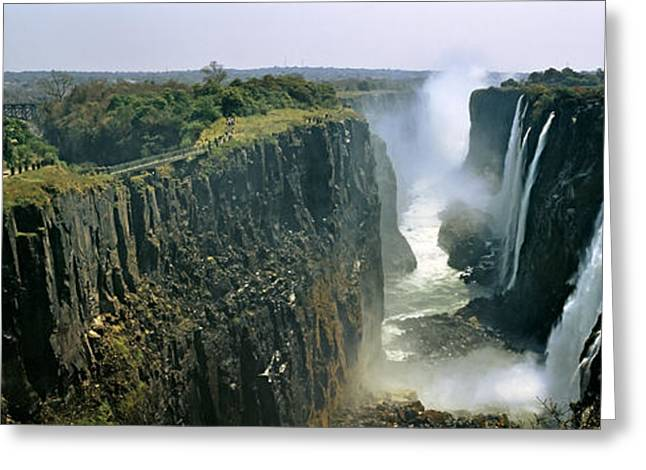 High Falls Gorge Greeting Cards - Looking Down The Victoria Falls Gorge Greeting Card by Panoramic Images
