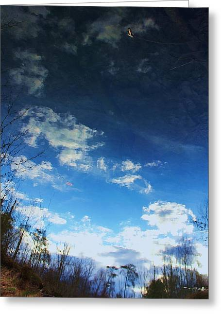 Visual Metaphors Greeting Cards - Looking Down To See the Sky Greeting Card by Chris Hill