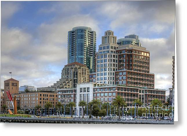 Rincon Greeting Cards - Looking Downtown Greeting Card by Kate Brown