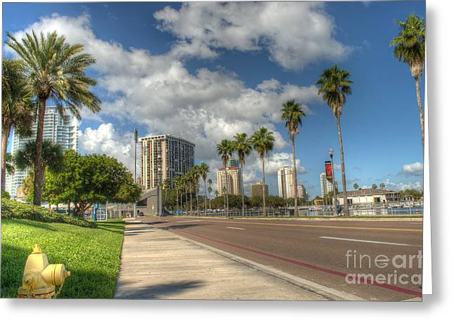 St Petersburg Florida Greeting Cards - Looking downtown St.Pete Greeting Card by Billy Davis Photography