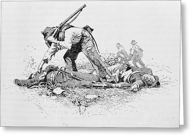 Dead Soldier Greeting Cards - Looking For A Friend, Illustration From Battles And Leaders Of The Civil War, Edited By Robert Greeting Card by J.W. Taber