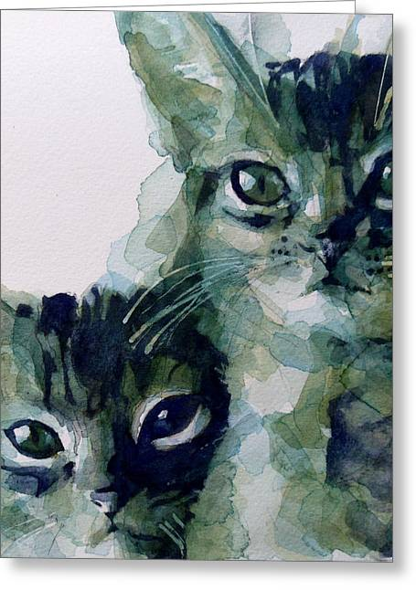 Whiskers Greeting Cards - Looking For A Home Greeting Card by Paul Lovering