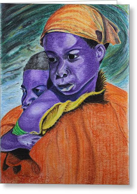 African-american Pastels Greeting Cards - Looking for Hope Greeting Card by Robert Stokes