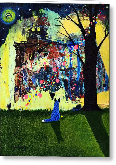 Blue Heeler Greeting Cards - Looking for Klimt Greeting Card by Todd Young