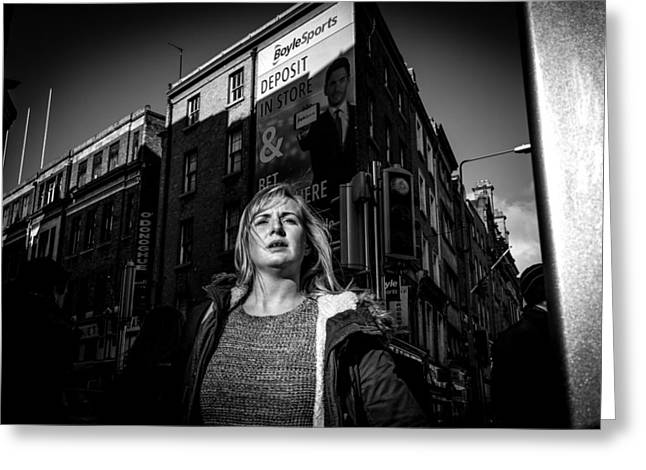 Streetphotography Greeting Cards - Looking for someone... Greeting Card by Giuseppe Milo