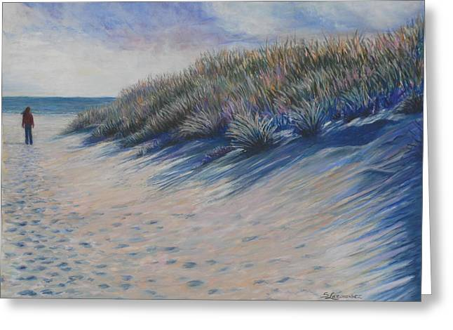 Atlantic Beaches Pastels Greeting Cards - Looking For Summer Greeting Card by Sharon Lazarowicz