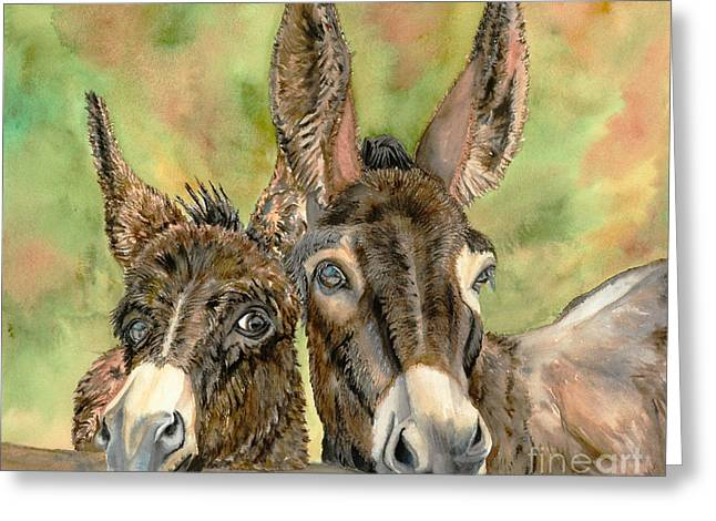Jack Ass Greeting Cards - Looking For Treats Greeting Card by Dee Elliott