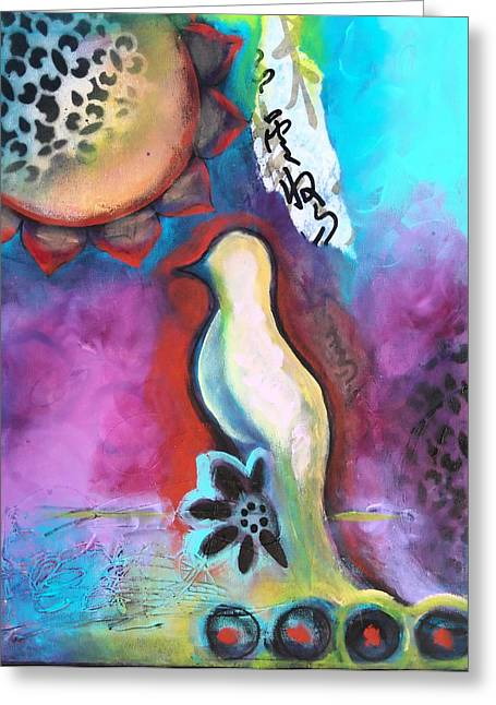 Yoga Greeting Cards - Looking for You II Greeting Card by Tara Catalano