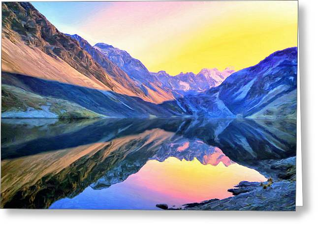 Looking Glass Greeting Card by Dominic Piperata