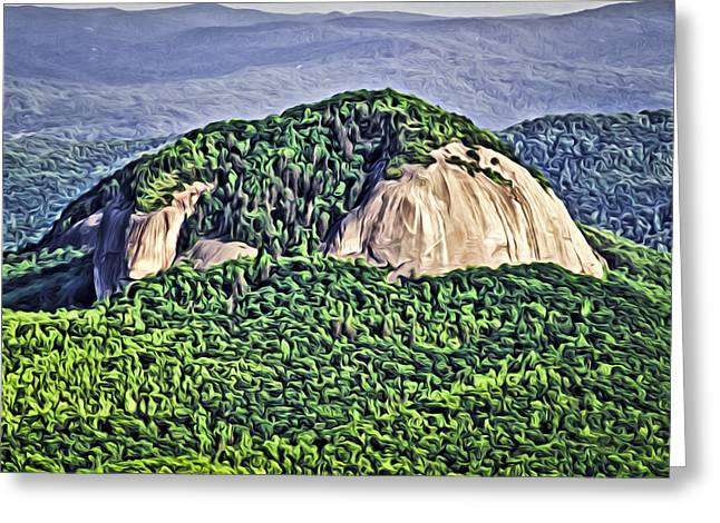 Monolith Digital Greeting Cards - Looking Glass Rock Greeting Card by Patrick M Lynch