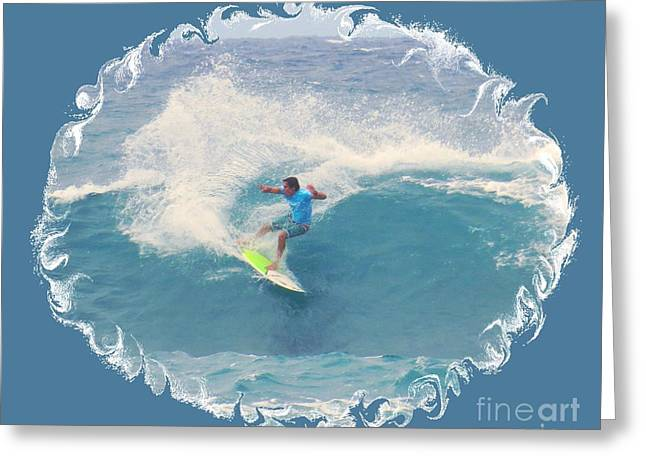 Surfing Photos Greeting Cards - Looking Goofy Greeting Card by Scott Cameron
