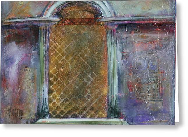 Grate Mixed Media Greeting Cards - Looking Into Italy Greeting Card by Lynn Chatman