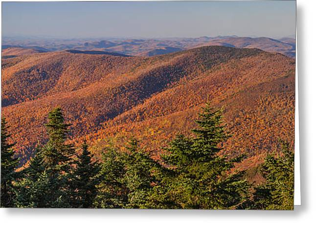 Looking North From Mount Equinox Greeting Card by Charles Kozierok