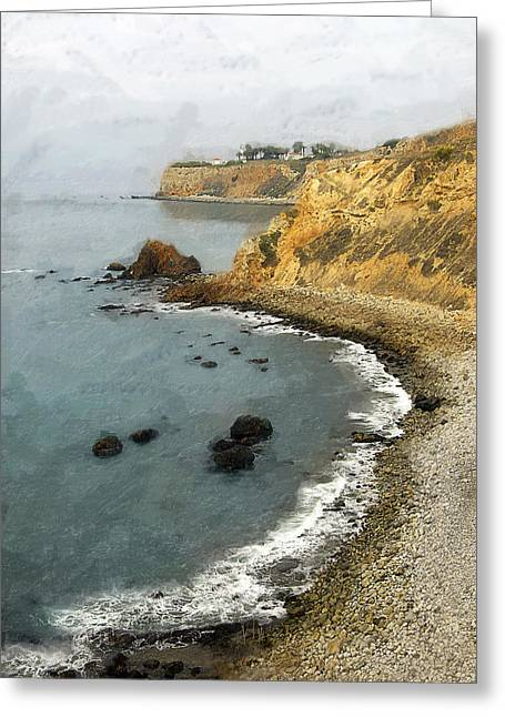 Looking North To The Lighthouse Greeting Card by Ron Regalado