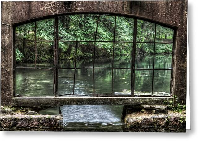 Kettle Moraine Greeting Cards - Looking Out - Paradise Springs Spring House Window Greeting Card by The  Vault - Jennifer Rondinelli Reilly