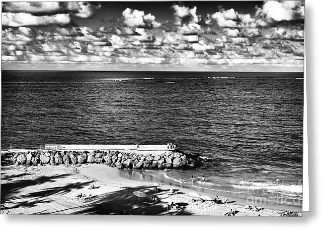 Looking out into the Ocean Greeting Card by John Rizzuto