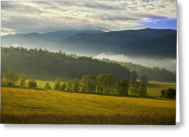 Smoky Greeting Cards - Looking out over Cades Cove Greeting Card by Andrew Soundarajan