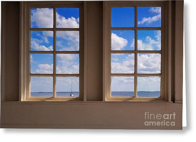 Sea View Greeting Cards - Looking Out to Sea Greeting Card by Louise Heusinkveld