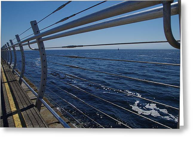 Deep Bay British Columbia Greeting Cards - Looking Out to Sea Greeting Card by Marilyn Wilson