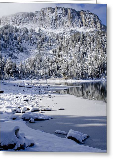 Snow Scenes Greeting Cards - Looking Over Mcleod Greeting Card by Chris Brannen