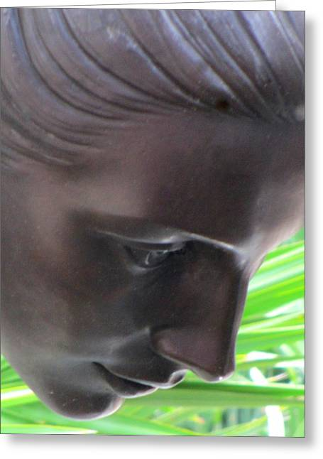 Garden Statuary Greeting Cards - Looking Greeting Card by Randall Weidner