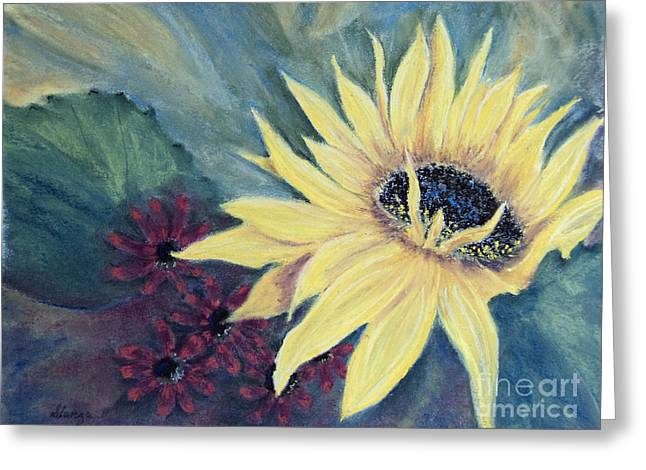 Yellow Sunflower Greeting Cards - Looking The Other Way Greeting Card by Stanza Widen