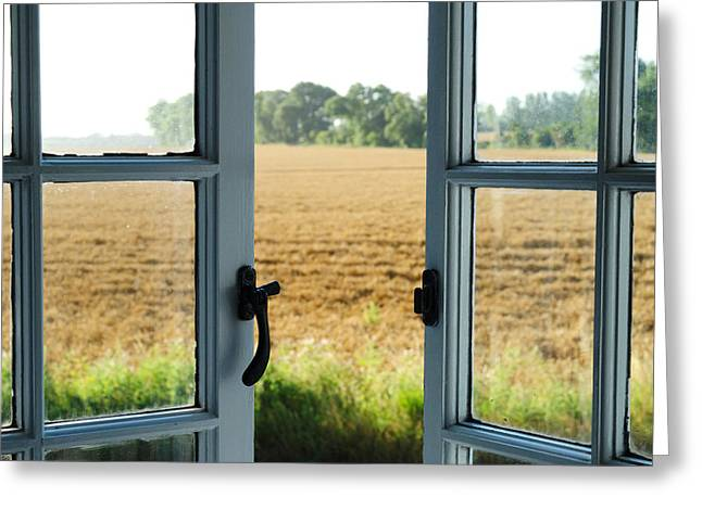 Opening Day Greeting Cards - Looking Through a Window Greeting Card by Chevy Fleet