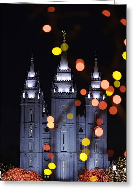 Salt Lake City - Utah Greeting Cards - Looking Through Light Greeting Card by Chad Dutson