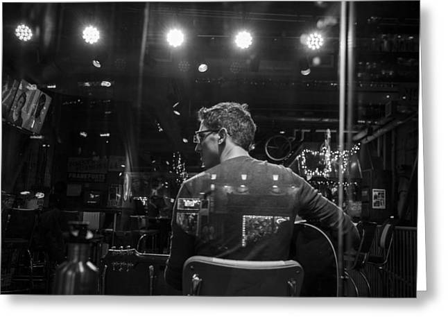 Nashville Greeting Cards - Looking to the left - Nashville Musician Greeting Card by John McGraw